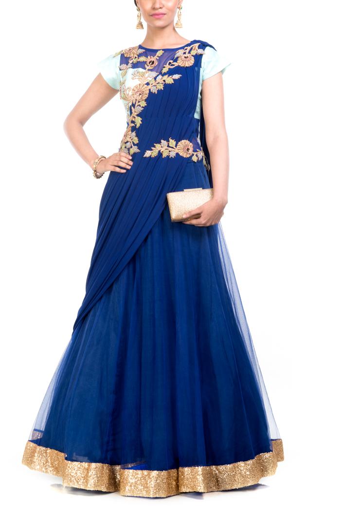 Gown type Saree