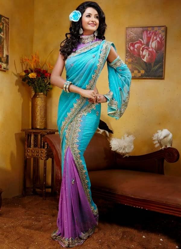 Pre-stitched Saree