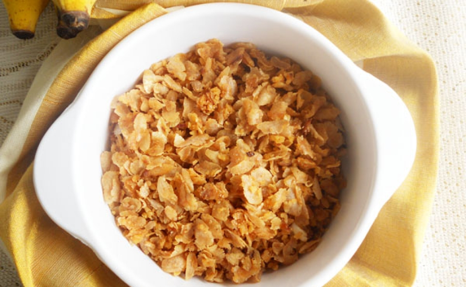 Aval Vilayichathu (Sweetened Rice Flakes)