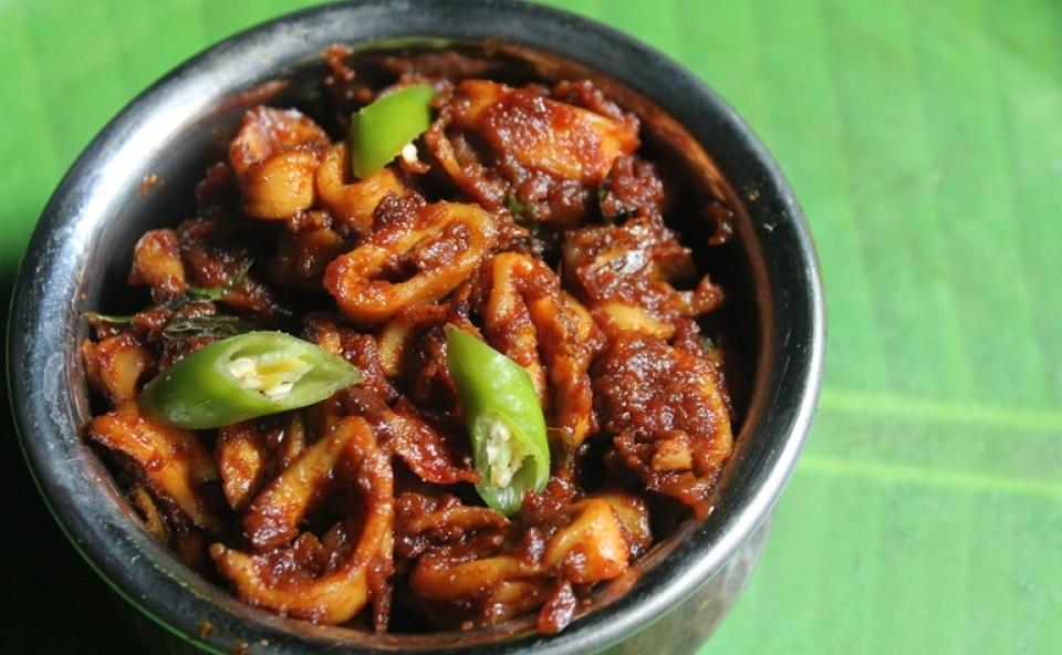Kerala Kanava/Squid/Nadan Koonthal Roast