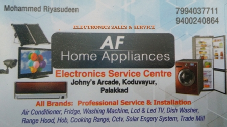 AF Home Appliances - Electronics Sales and Service Centre Koduvayur, Palakkad Kerala