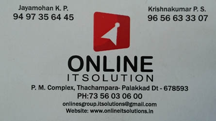 Online IT Solution at Thachampara,  Palakkad Kerala
