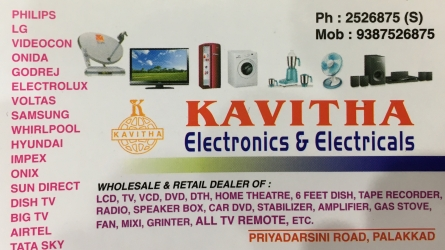 Kavitha Electronics and Electricals - - Sales and Service - Wholesale and Retail Dealers in Palakkad Town