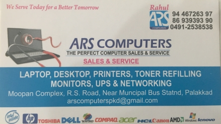 ARS Computers - The Perfect Computer Sales and Service in Palakkad Town