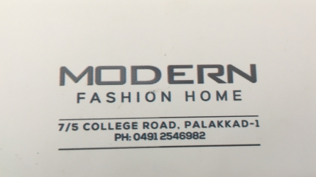 Modern Fashion Home - Textile Shop in Palakkad Town