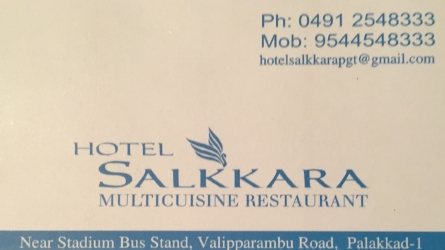 Hotel Salkkara - Multicuisine Restaurant, Near Stadium Bus Stand, Valipparambu Road Palakkad