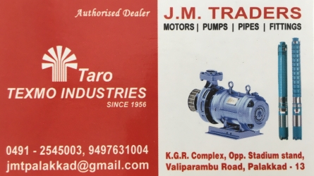 J.M. Traders - One and Only Authorised Dealer of Texmo Industries Taro Pumps at Palakkad Town