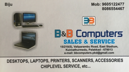 B and B Computers - Sales and Service of Total IT Products in Palakkad Town