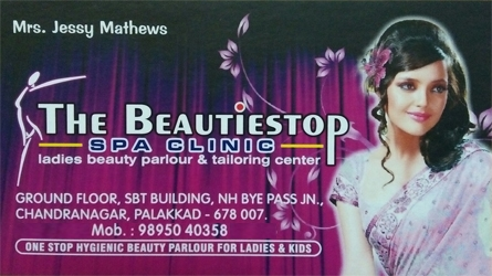 The Beautiestop Spa Clinic - Ladies Beauty Parlour and Tailoring Center in Palakkad Town