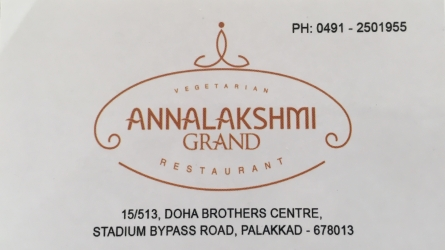 Annalakshmi Grand - Best Vegetarian Restaurant in Palakkad Town Kerala - Best Hotels in Palakkad Kerala