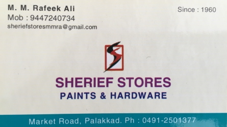 Sherief Stores -  Paints Wholesale and Retails in Market Road Palakkad and Hardware Wholesale and Retails in Market Road Palakkad