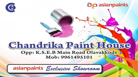 Chandrika Paint House - Exclusive Asian Paints Showroom in Olavakkode Palakkad