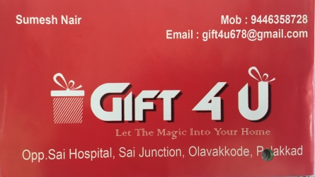 Gift 4U - Let the Magic into your Home - Best Gift Shop in Olavakkode Palakkad