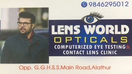 Lens World Opticals - Computerized Eye Testing and Contact Lens Clinic in Alathur Palakkad