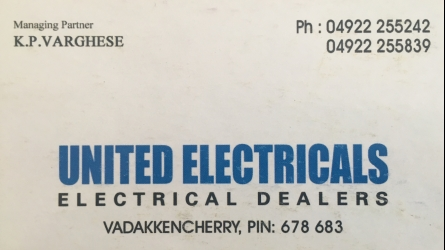 United Electricals - Best Electrical, Plumbing and Household Dealers in Vadakkenchery Palakkad Kerala