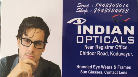 Indian Opticals - Best Optical Shop in Koduvayur Palakkad - Free Eye Checkup in Every Morning 10am to 2pm
