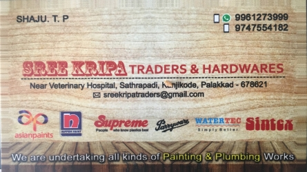 Sree Kripa Traders and Hardwares - Best Asian Paints and Nippon Paints Dealer in Kanjikode Pudussery Palakkad