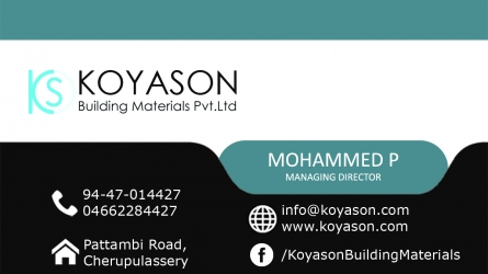 Koyason Building Materials Pvt. Ltd - Best Building Material Suppliers in Cherpulassery Palakkad Kerala