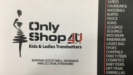 Only Shop 4u - Best Kids and Ladies Trendsetters Shop in Shornur Palakkad Kerala