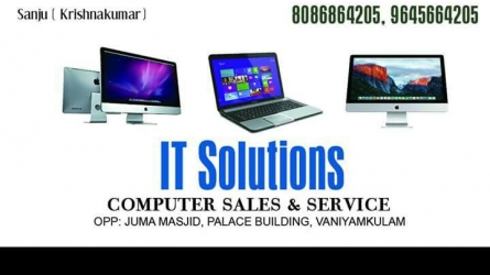 IT Solutions - Best Computer Sales and Service in Vaniyamkulam Palakkad Kerala