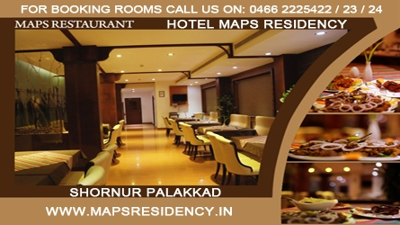 Hotel Maps Residency - Top Hotels in Shornur Palakkad Kerala