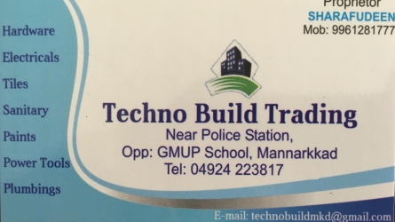 Techno Build Trading - Best Hardwares, Electricals, Tiles, Sanitary, Paints, Power Tools and Plumbing Shop in Mannarkkad Palakkad Kerala