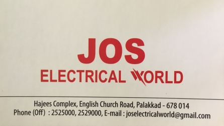 Jos Electrical World - Top Electrical Showroom in Palakkad Town Kerala India