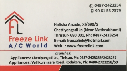 Freeze Link A/C World - Best Air Conditioners Shop in Thrissur Kerala India