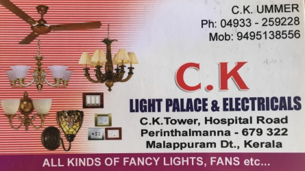 C.K Light Palace and Electricals - Best Lights, Fans and Electrical Shop in Perinthalmanna Malappuram Kerala India