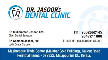 Dr. Jasoors Dental Clinic - Best Dental Clinics in Perinthalmanna Malappuram Kerala India