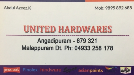 United Hardwares - Best Hardware Shop in Angadippuram Malappuram Kerala India