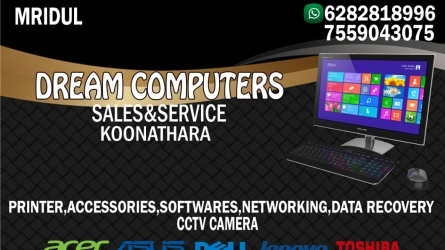Dream Computers - Best Computer Sales and Service in Koonathara Vaniyamkulam Palakkad Kerala India