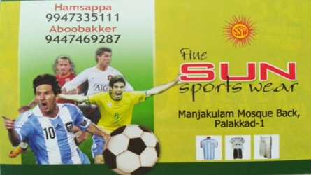 Fine Sun Sports Wear Manjakulam Palakkad