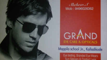 GRAND Eye Care & Opticals Kalladikkode, Palakkad
