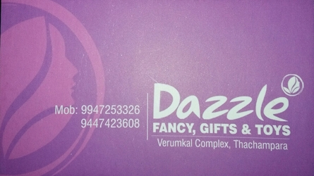 Dazzle - Fancy, Gifts and Toys Shop at Thachampara, Palakkad